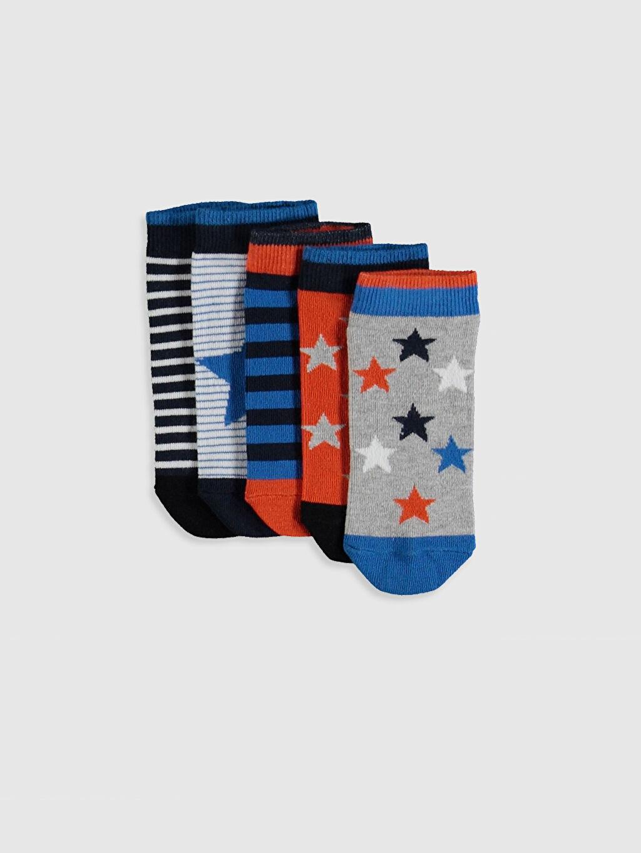 Çok Renkli Erkek Çocuk Patik Çorap 5'li 0S4418Z4 LC Waikiki