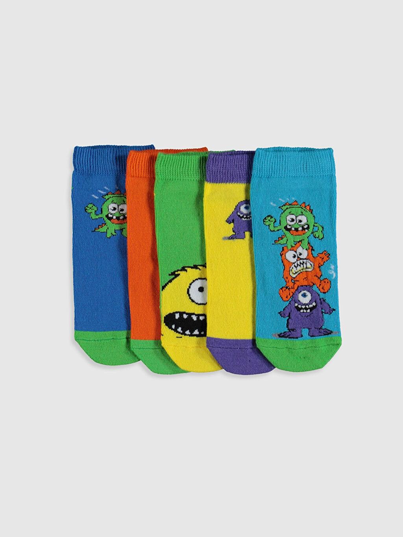 Çok Renkli Erkek Çocuk Patik Çorap 5'li 0S4458Z4 LC Waikiki
