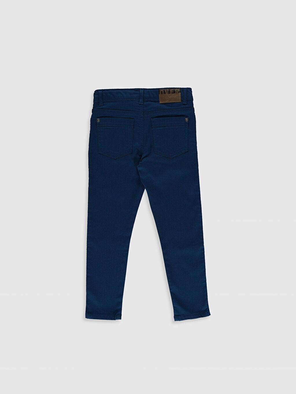 %66 Pamuk %30 Poliester %4 Elastane Aksesuarsız Düz Gabardin Normal Bel Astarsız Dar Beş Cep Pantolon Orta Kalınlık Erkek Çocuk Super Slim Gabardin Pantolon