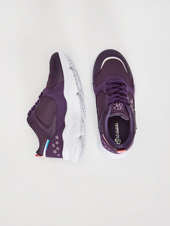 %0 Diğer malzeme (poliüretan) %0 Tekstil malzemeleri (%100 poliester) Aktif Spor Ayakkabı Işıksız Polyester Astar Bağcık ve Cırt Cırt Kız Çocuk Bağcıklı Aktif Spor Ayakkabı