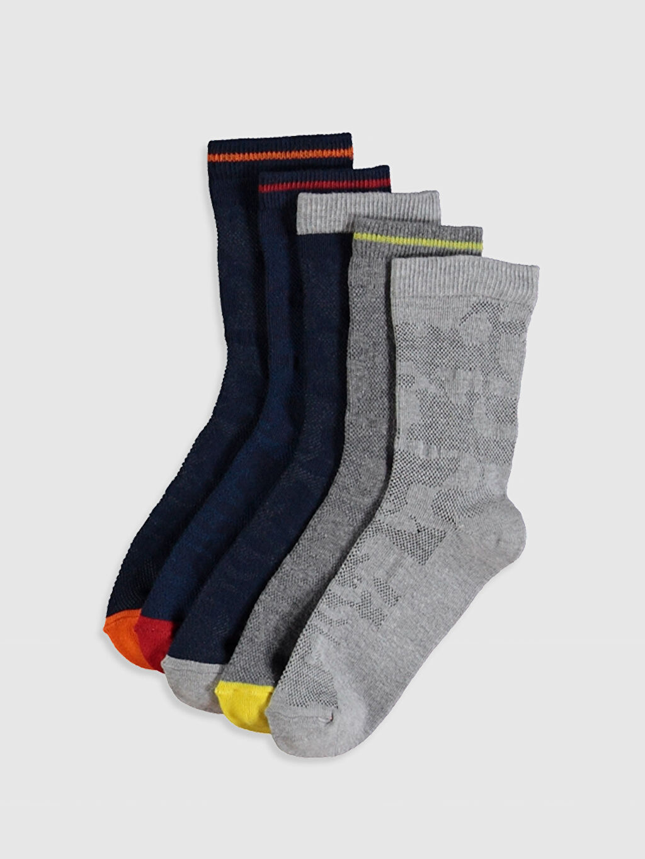 Çok Renkli Erkek Çocuk Soket Çorap 5'li 0S5233Z4 LC Waikiki