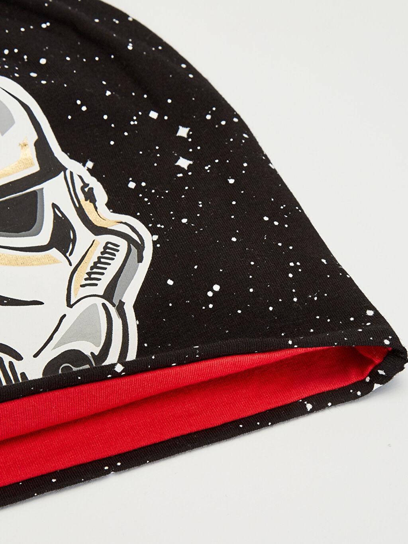 Erkek Çocuk Erkek Çocuk Star Wars Baskılı Triko Bere