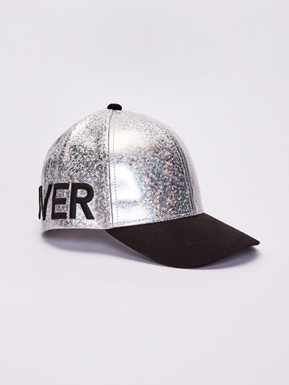 Gri Kız Çocuk Nakış Detaylı Hologram Şapka 0S6450Z4 LC Waikiki