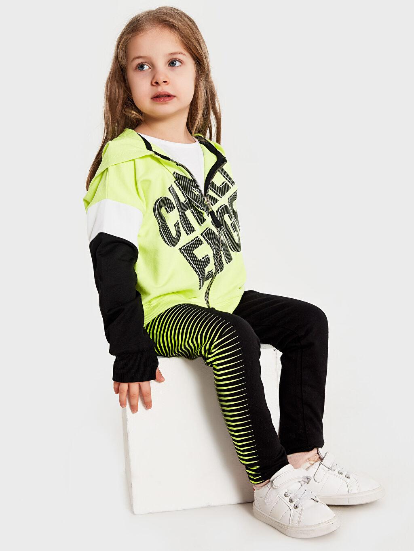 Kız Çocuk Kız Çocuk Fermuarlı Kapüşonlu Sweatshirt
