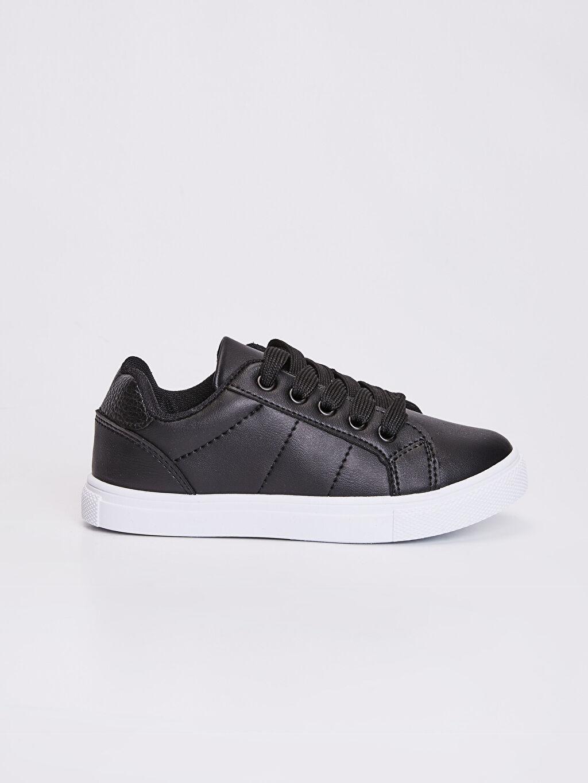 Siyah Erkek Çocuk 31-38 Numara Sneaker 0S7199Z4 LC Waikiki
