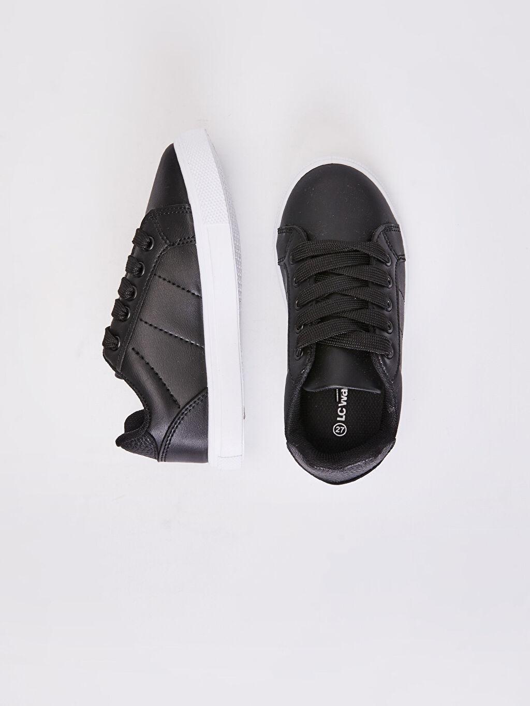 Siyah Erkek Çocuk 31-38 Numara Sneaker