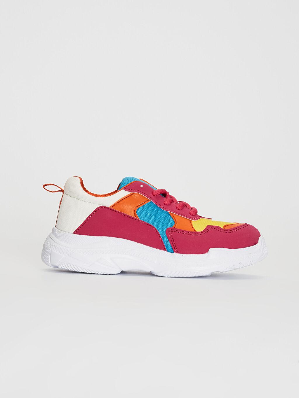 Pembe Kız Çocuk Kalın Taban Renk Bloklu Günlük Ayakkabı 0S8228Z4 LC Waikiki