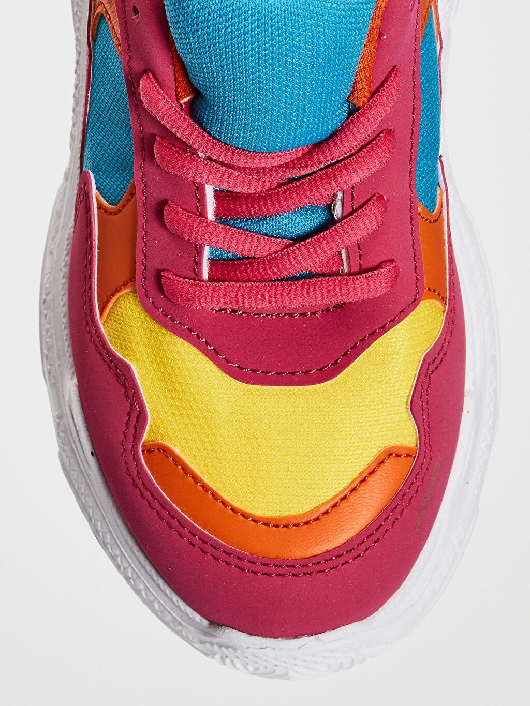 LC Waikiki Pembe Kız Çocuk Kalın Taban Renk Bloklu Günlük Ayakkabı