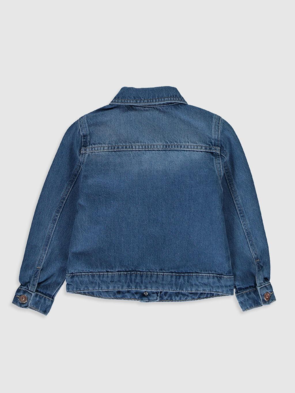 %100 Pamuk %100 Pamuk Aksesuarsız Jean Ceket Gömlek Yaka Orta Kalınlık Uzun Kol Düz Kız Çocuk Jean Ceket