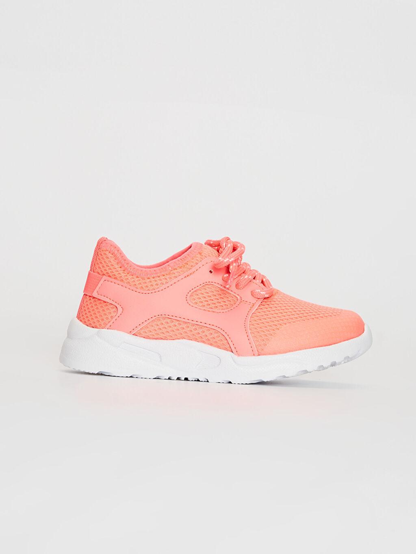 Mercan Kız Çocuk Bağcıklı Aktif Spor Ayakkabı 0S8785Z4 LC Waikiki