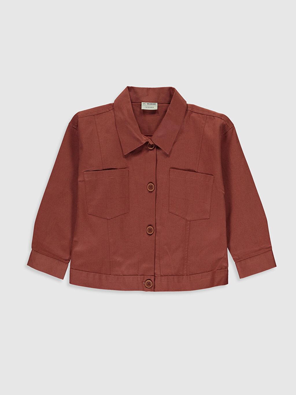 Kırmızı Kız Çocuk Pamuklu Ceket 0S9518Z4 LC Waikiki