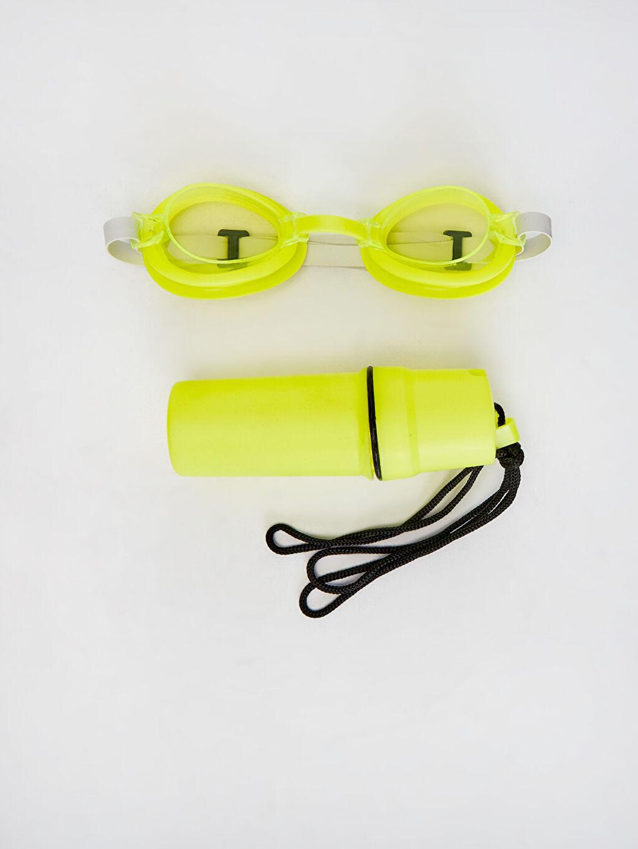 Plastik Deniz Gözlüğü Kız Çocuk Deniz Gözlüğü Seti