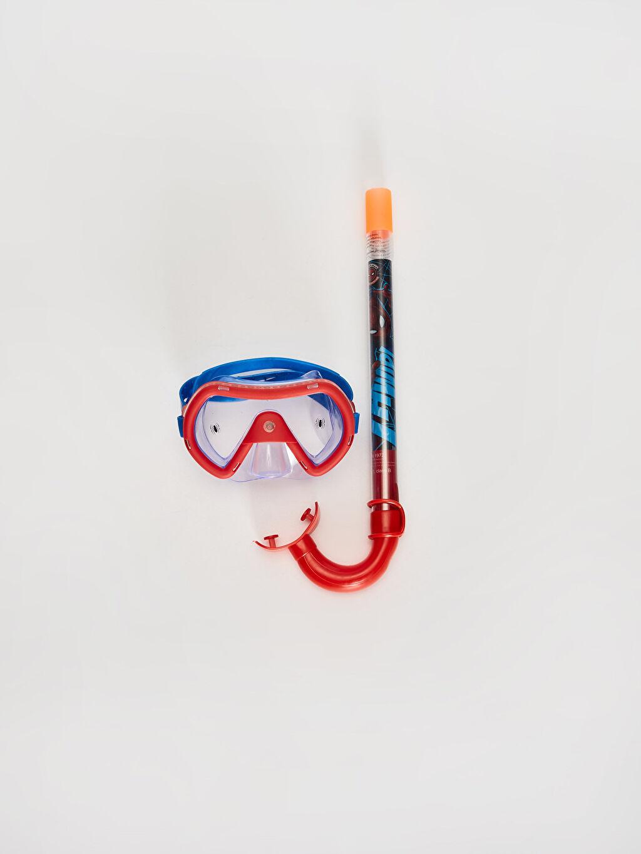 Plastik Deniz Gözlüğü Erkek Çocuk Spiderman Şnorkel Set