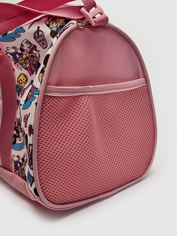 %100 Polyester Kız Çocuk Minnie Mouse Baskılı Spor Çanta