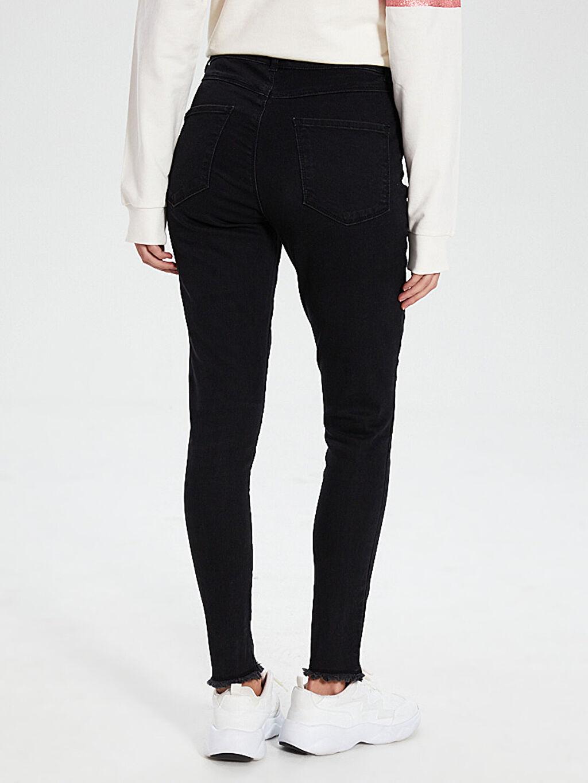 Kadın Aile Koleksiyonu İşlemeli Skinny Jean Pantolon