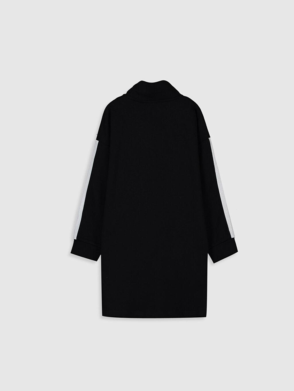 %84 Pamuk %16 Polyester Düz İnce Sweatshirt Kumaşı Elbise Diz Üstü Aile Koleksiyonu Kız Çocuk Pamuklu Elbise