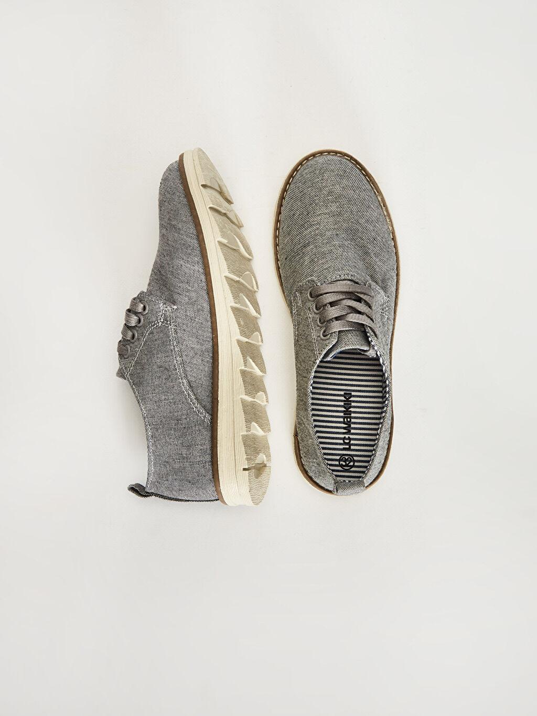 %0 Tekstil malzemeleri (%47 pamuk,%40 poliester,%7 akrilik,%6 viskoz) Klasik Ayakkabı Bağcık Işıksız Erkek Çocuk Klasik Ayakkabı
