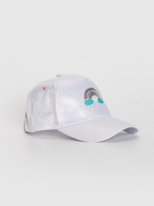 Gri Kız Çocuk Nakış Detaylı Hologram Şapka 0SM860Z4 LC Waikiki