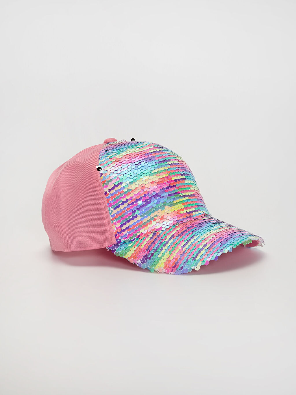 Pembe Kız Çocuk Pul Payetli Şapka 0SM861Z4 LC Waikiki