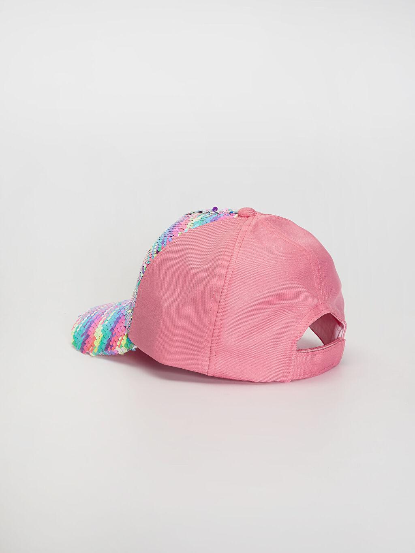 %100 Polyester Kız Çocuk Pul Payetli Şapka
