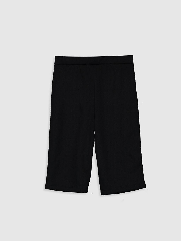 %73 Polyester %4 Elastan %23 Viskoz Kalın Çelikli İnterlok Standart Normal Bel Uzun Eşofman Altı Düz Kız Bebek Basic Pantolon