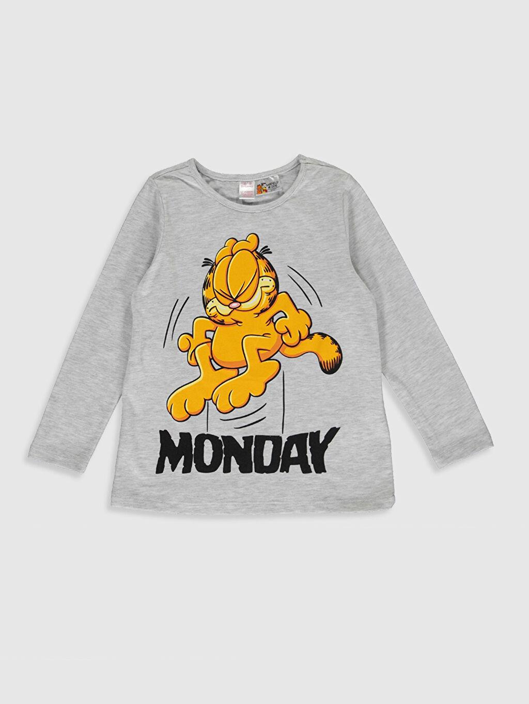 Kız Çocuk Kız Çocuk Garfield Baskılı Pijama Takımı
