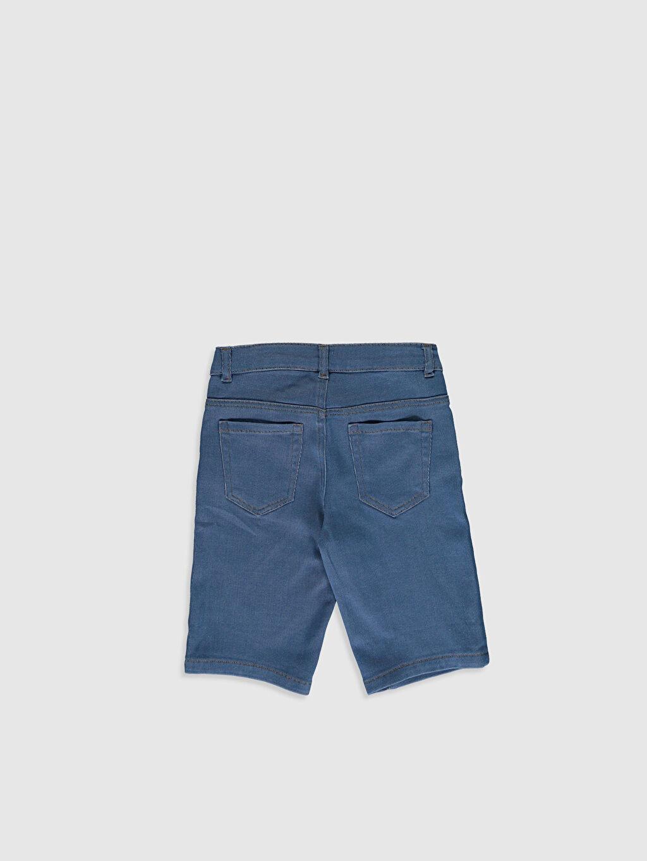 %83 Pamuk %16 Polyester %1 Elastan Düz Orta Kalınlık Jean Şort Aksesuarsız Standart Astarsız Erkek Çocuk Jean Roller