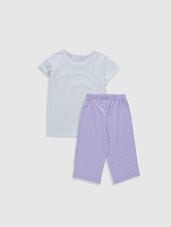 %100 Pamuk İnce %100 Pamuk Kısa Kol Taş Devri Penye Standart Pijama Takım Kız Çocuk Taş Devri Baskılı Pamuklu Pijama Takımı