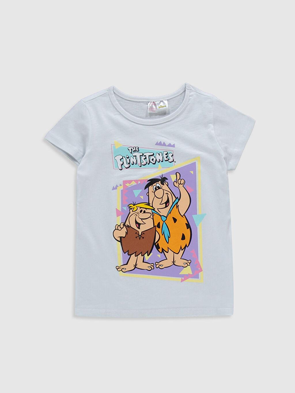Kız Çocuk Kız Çocuk Taş Devri Baskılı Pamuklu Pijama Takımı