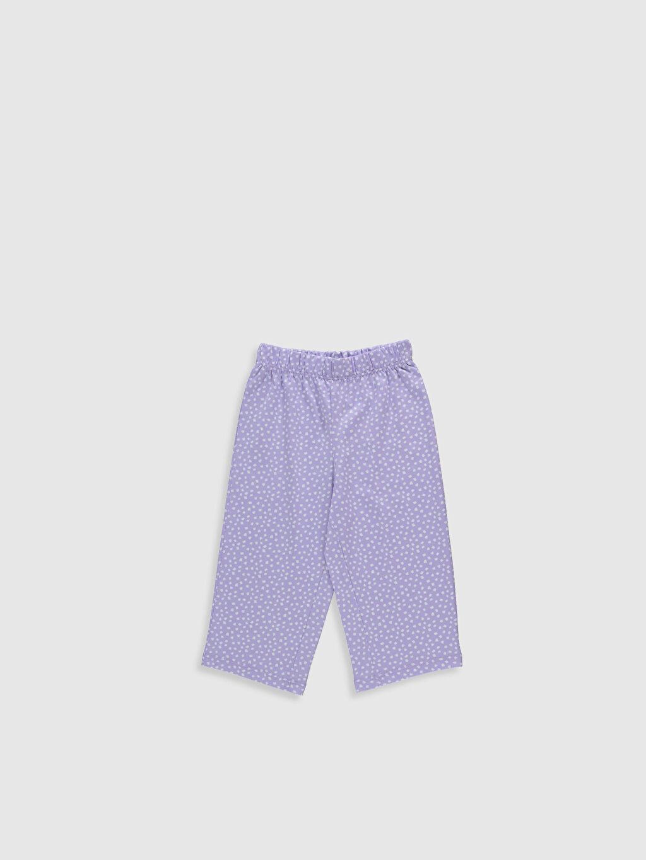%100 Pamuk Kız Çocuk Taş Devri Baskılı Pamuklu Pijama Takımı