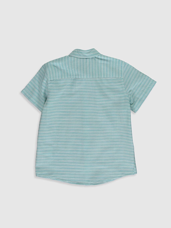 Düz Standart Kısa Kol Gömlek %100 Pamuk Erkek Çocuk Desenli Pamuklu Gömlek