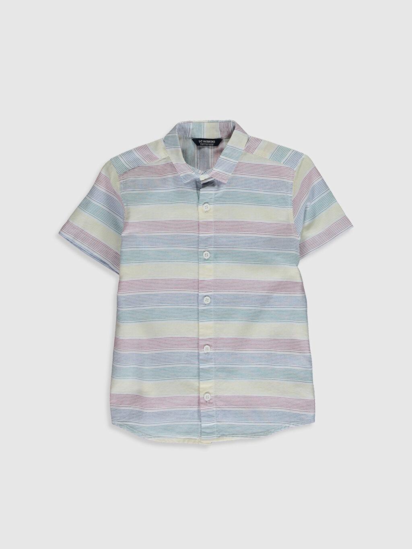 Çok Renkli Erkek Çocuk Desenli Pamuklu Gömlek 0SC511Z4 LC Waikiki