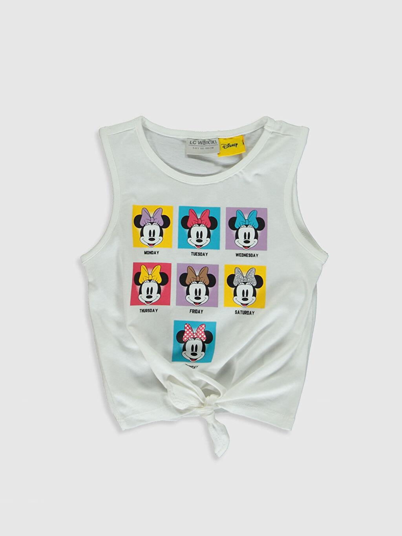 Beyaz Kız Çocuk Minnie Mouse Baskılı Pamuklu Atlet 0SC853Z4 LC Waikiki