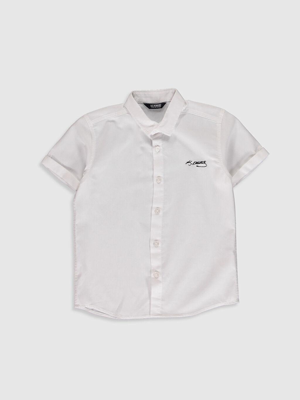 Beyaz Erkek Çocuk Atatürk İmzalı Gömlek 0SE631Z4 LC Waikiki