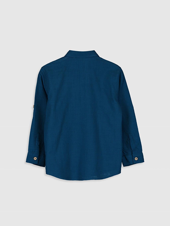 %100 Pamuk %100 Pamuk İnce Uzun Kol Düz Poplin Aksesuarsız Gömlek Standart Erkek Çocuk Uzun Kollu Pamuklu Gömlek