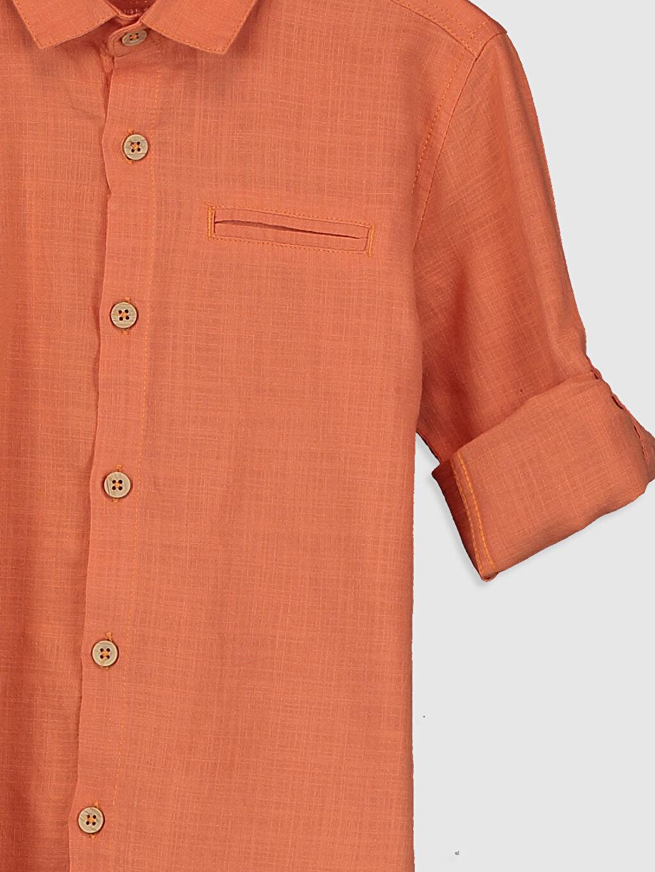 Erkek Çocuk Erkek Çocuk Uzun Kollu Pamuklu Gömlek