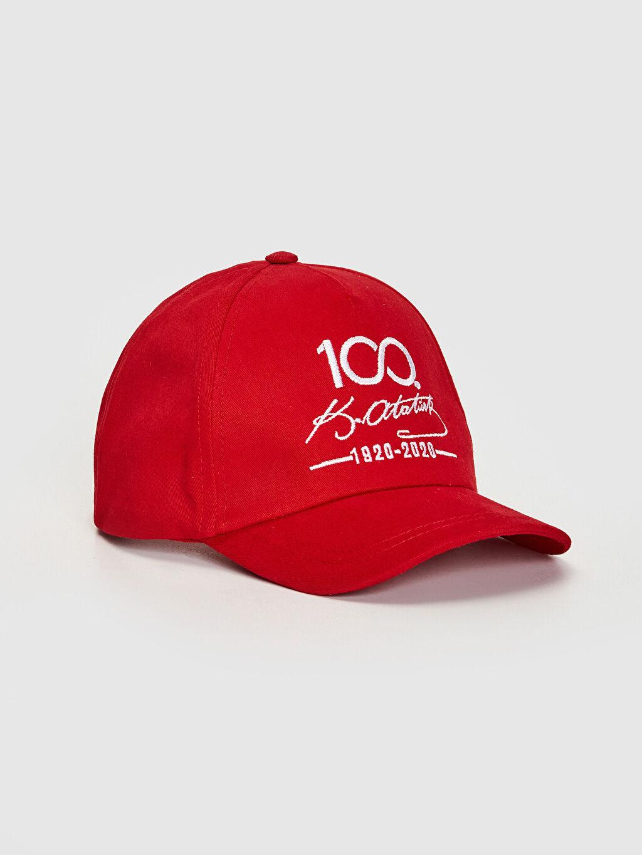 Kırmızı Kız Çocuk 100.Yıl Atatürk Baskılı Şapka 0SF599Z4 LC Waikiki