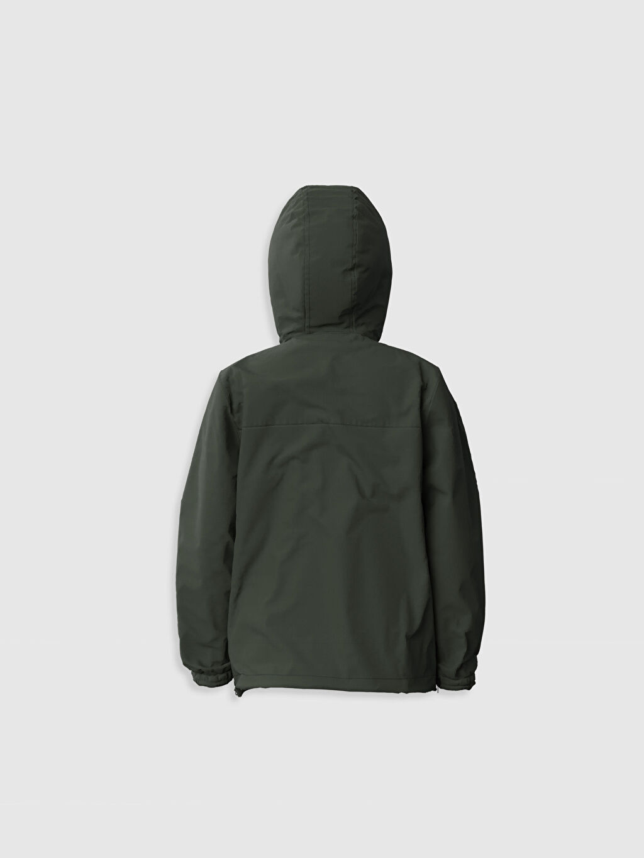 %100 Polyester %100 Pamuk Uzun Kol Düz Mont Penye Astar İnce Erkek Çocuk Kapüşonlu İnce Mont