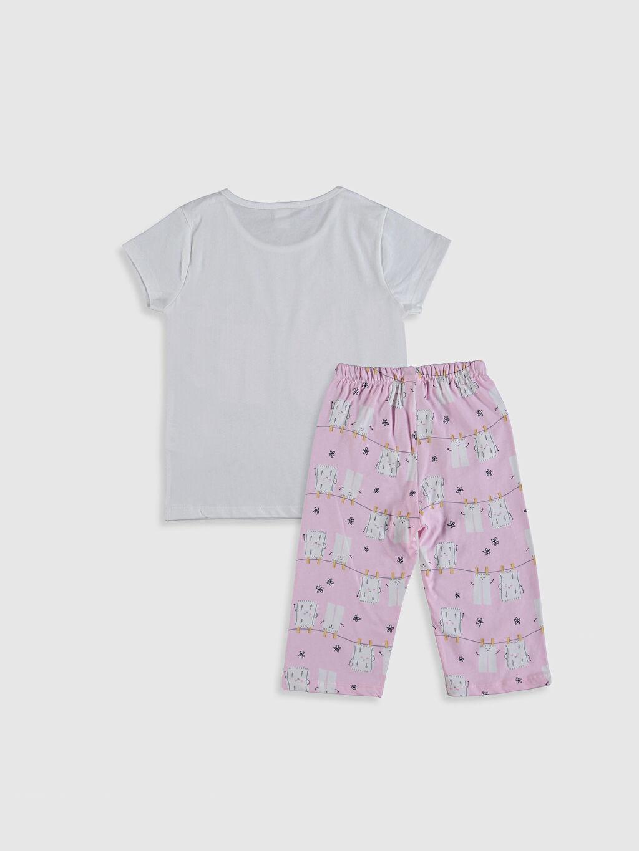 %100 Pamuk Standart İnce Kısa Kol Pijama Takım Süprem Kız Çocuk Baskılı Pamuklu Pijama Takımı