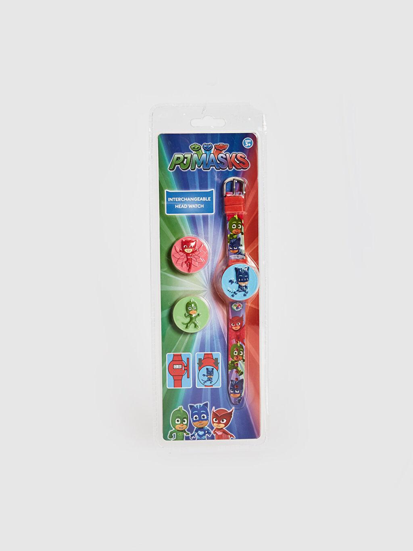 Çok Renkli Pijamaskeliler Lisanslı Kapaklı Kol Saati 0SV040Z4 LC Waikiki