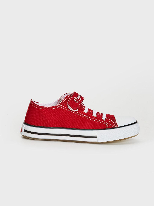 Kırmızı MP ONE Kız Çocuk Cırt Cırtlı Spor Ayakkabı 0SAJ78Z4 LC Waikiki