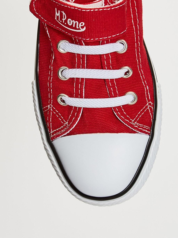LC Waikiki Kırmızı MP ONE Kız Çocuk Cırt Cırtlı Spor Ayakkabı