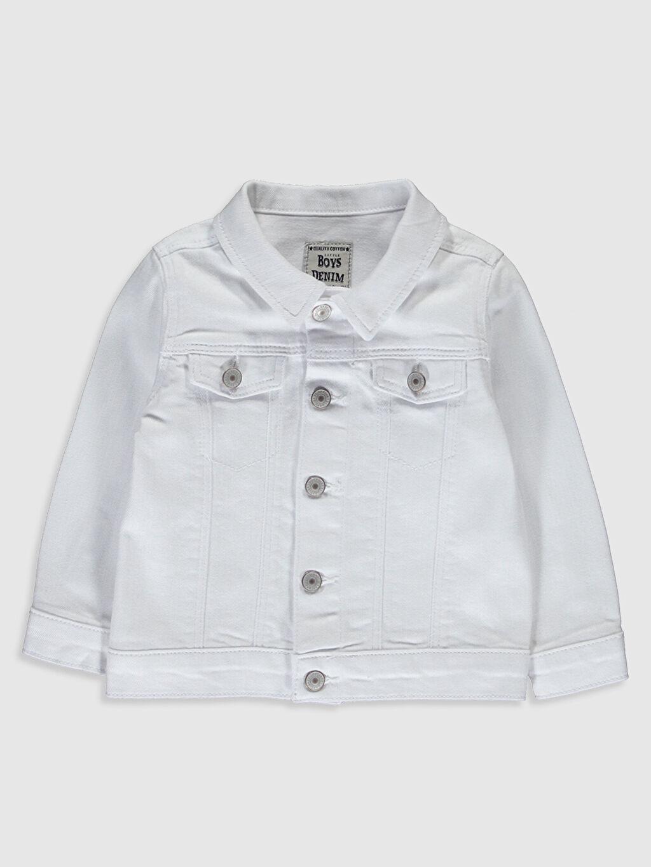 Beyaz Erkek Bebek Jean Ceket 0S0053Z1 LC Waikiki