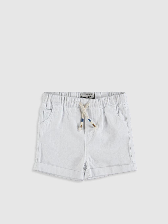 Beyaz Erkek Bebek Jean Şort 0S0076Z1 LC Waikiki