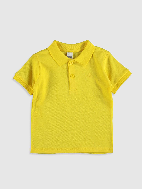 Sarı Erkek Bebek Polo Yaka Basic Tişört 0S0258Z1 LC Waikiki