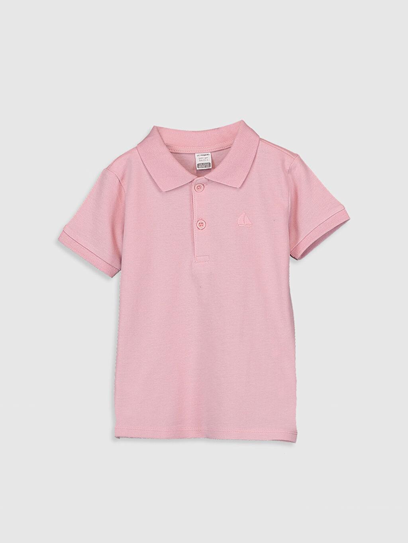 Pembe Erkek Bebek Polo Yaka Basic Tişört 0S0258Z1 LC Waikiki