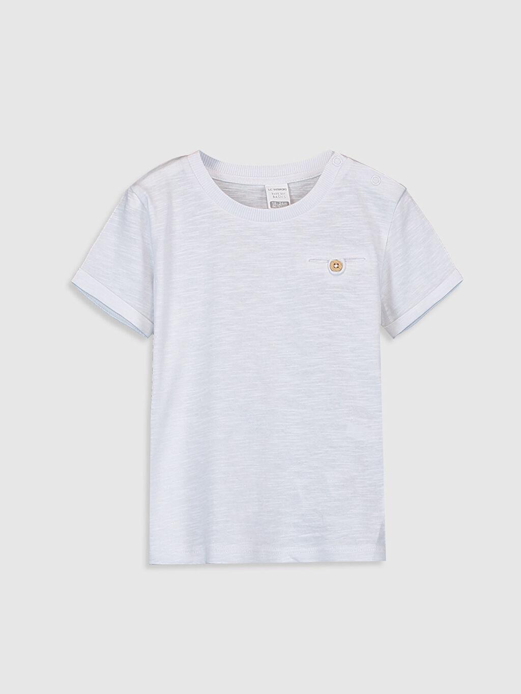 Beyaz Erkek Bebek Basic Pamuklu Tişört 0S0332Z1 LC Waikiki