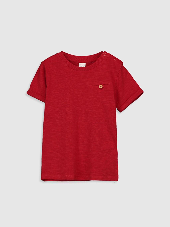 Kırmızı Erkek Bebek Basic Pamuklu Tişört 0S0332Z1 LC Waikiki