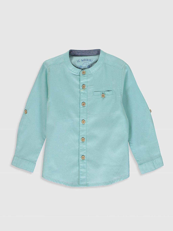 Yeşil Erkek Bebek Twill Gömlek 0S0424Z1 LC Waikiki
