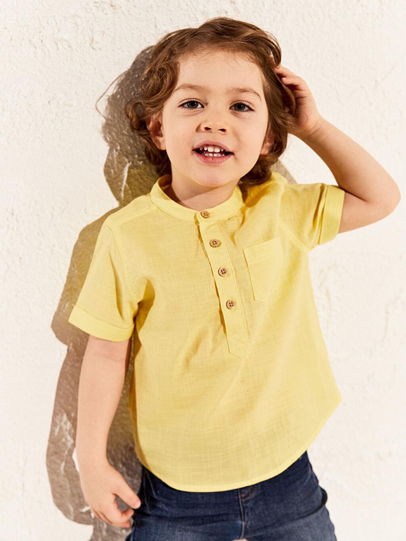 Sarı Erkek Bebek Hakim Yaka Gömlek 0S0435Z1 LC Waikiki